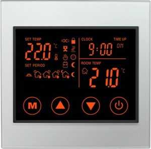 Boutique Underfloor Heating Electric Touch Thermostat V2 16A - HV2000L8 White