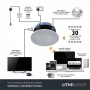 Lithe Audio All-in-one IP44 Wi-Fi Multi-room Ceiling Speaker (Pair - Master/Passive)