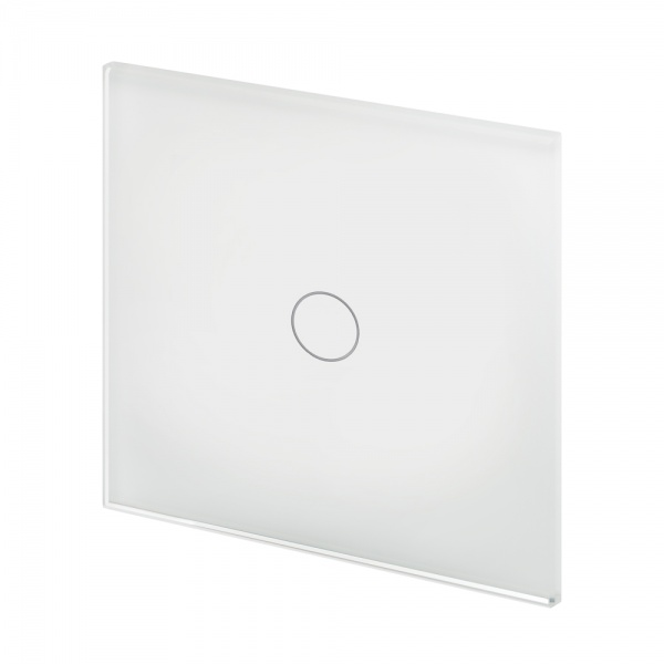 Crystal PG 1 Gang Touch Light Switch White