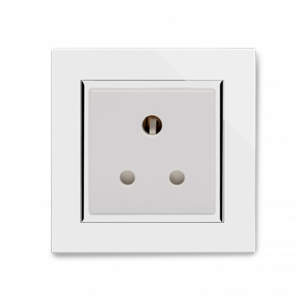 Crystal CT 15A Round Pin Socket White