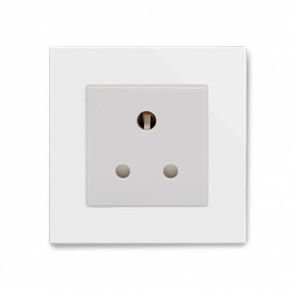 Crystal PG 15A Round Pin Socket White