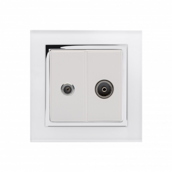 Crystal CT Satellite / TV Socket White
