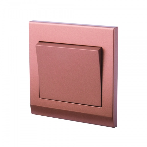 Simplicity Mechanical Light Switch 1 Gang Copper/Bronze