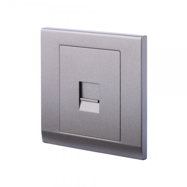 Simplicity Single BT Slave Telephone Socket Charcoal