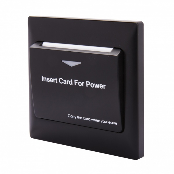 Energy Key Card Saver - Black Plastic