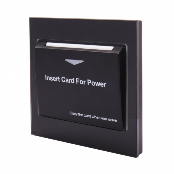 Energy Key Card Saver - Black Acrylic