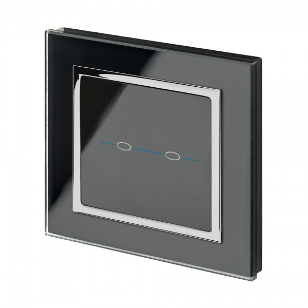 Crystal Ct 12 24v 2 Gang Touch Retractive Light Switch Black Retrotouch Designer Light Switches Plug Sockets