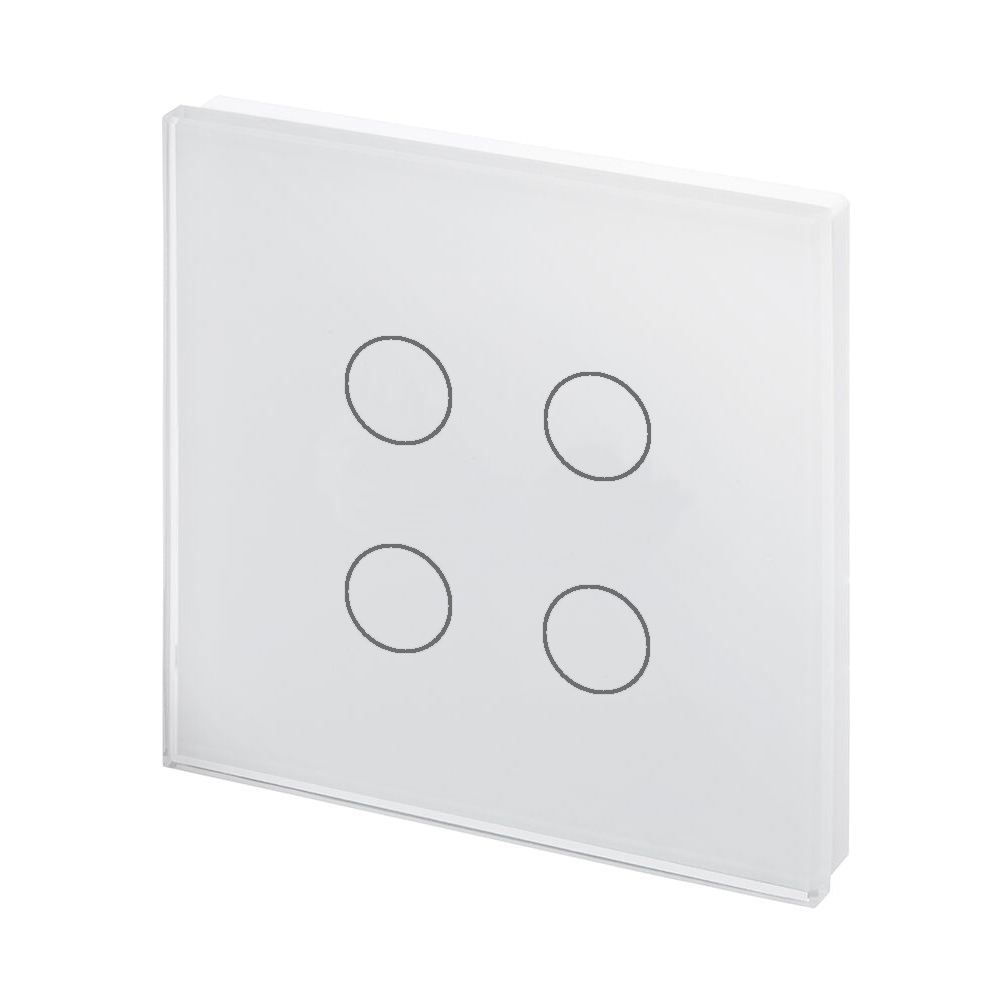Crystal Pg Touch Light Switch 4 Gang White Retrotouch Designer Light Switches Plug Sockets