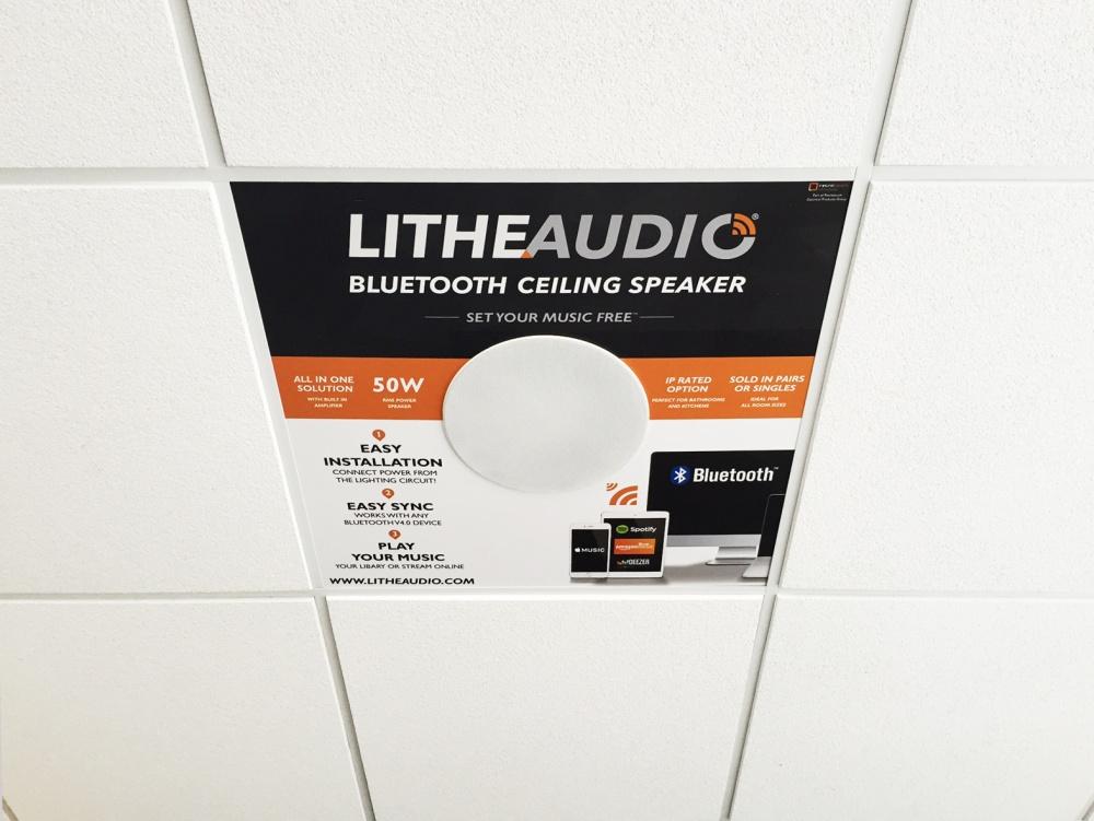 Bluetooth ceiling speaker POS DEMO BOX