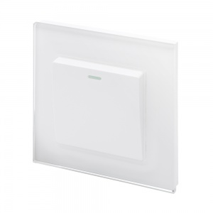 Crystal PG (Retractive/Pulse) Light Switch 1 Gang White