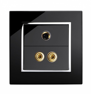 Crystal CT  3.5mm Jack/Audio Socket Black