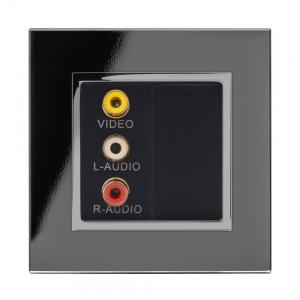 Crystal CT Audio/Video Socket Black