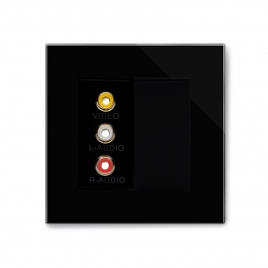 Crystal PG Audio/Video Socket Black