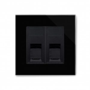 Crystal PG Dual CAT5e Socket Black