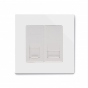 Crystal PG CAT5e / RJ11 Socket White