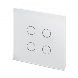 Crystal PG Touch Light Switch 4 Gang White