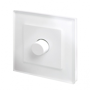 Crystal PG 1G Rotary LED Dimmer Switch 2 Way White
