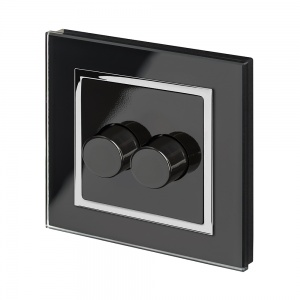 Crystal CT 2G Rotary LED Dimmer Switch 2Way Black