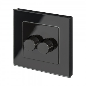 Crystal PG 2G Rotary LED Dimmer Switch 2 Way Black