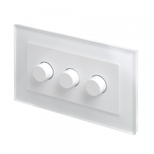 Crystal PG 3G Rotary LED Dimmer Switch 2 Way White