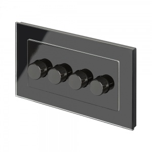 Crystal PG 4G Rotary LED Dimmer Switch 2 Way Black
