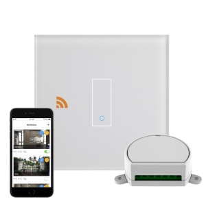 Crystal iotty WiFi Smart Dimmer Switch 1G White UK