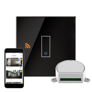 Crystal iotty WiFi Smart Dimmer Switch 1G Black UK