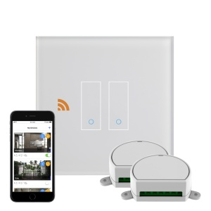 Crystal iotty WiFi Smart Dimmer Switch 2G White UK