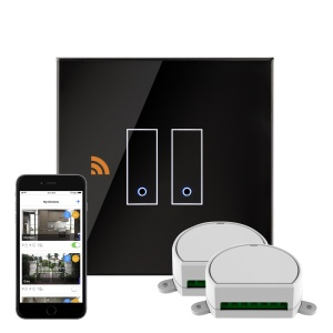 Crystal iotty WiFi Smart Dimmer Switch 2G Black UK