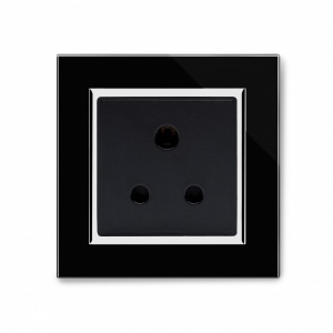 Crystal CT 15A Round Pin Socket Black