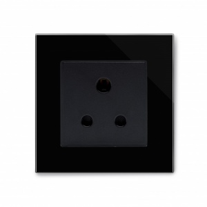 Crystal PG 15A Round Pin Socket Black