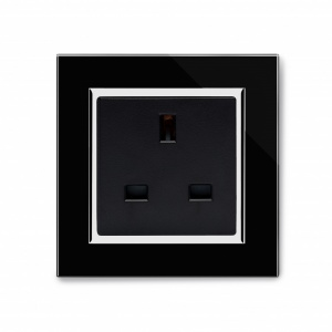 Crystal CT 13A Single Plug Unswitched Socket Black