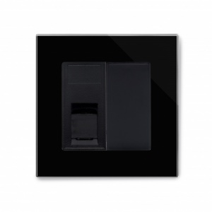 Crystal PG Single CAT5e Socket Black