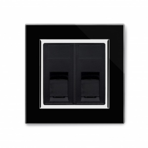 Crystal CT Dual CAT5e Socket Black
