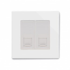 Crystal PG Dual CAT5e Socket White