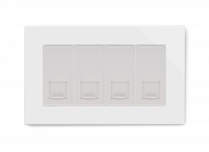 Crystal PG Quad CAT6e Socket White