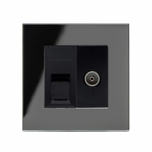 Crystal PG CAT6e / TV Socket Black