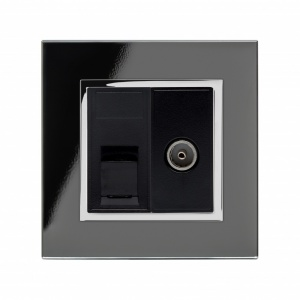 Crystal CT CAT6e / TV Socket Black
