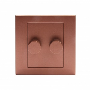 Simplicity LED Dimmer Switch 2 Gang 2 Way Copper / Bronze