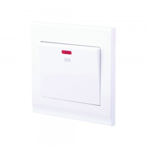 Simplicity 20A DP Switch with Neon White