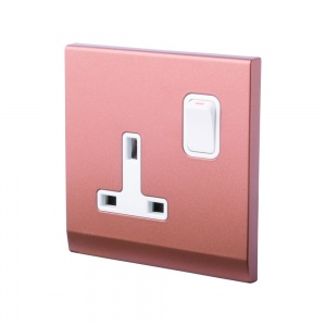 Simplicity 13A DP Single Plug Socket with Switch Bronze