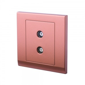 Simplicity Coaxial TV + FM Socket Bronze