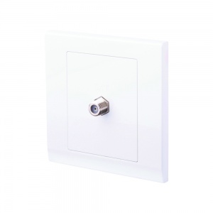 Simplicity Coaxial Satellite Socket White