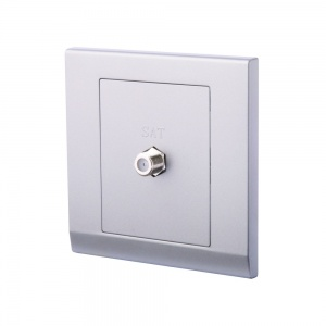 Simplicity Coaxial Satellite Socket Mid Grey
