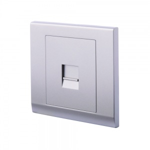 Simplicity Single BT Master Telephone Socket Mid Grey