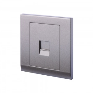 Simplicity Single BT Master Telephone Socket Charcoal