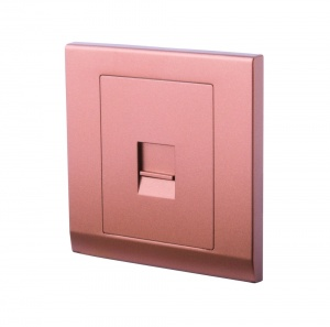 Simplicity Single BT Master Telephone Socket Bronze