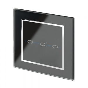 Crystal CT 3 Gang Touch Light Switch Black