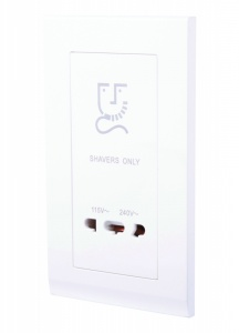 Simplicity Shaver Outlet 20W White
