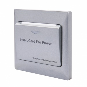Energy Key Card Saver - Charcoal Plastic